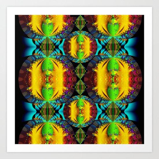Circles, Pattern and Colors Art Print
