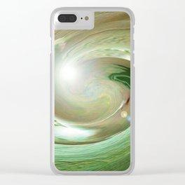 Green Desert Clear iPhone Case