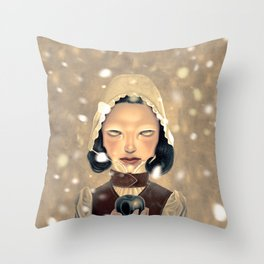 Snowhite Throw Pillow