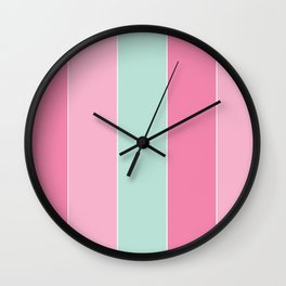 Punchy Pastels Colorful Stripes Wall Clock