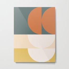 Abstract Geometric 02 Metal Print