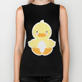 Little duck in pond Biker Tank
