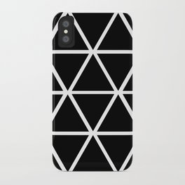BLACK & WHITE TRIANGLES 2 iPhone Case