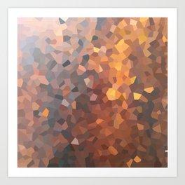 Amber Moon Lights Art Print