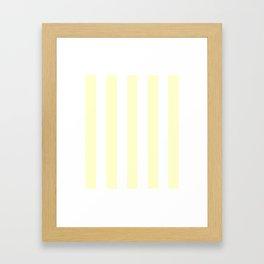 Conditioner pink - solid color - white vertical lines pattern Framed Art Print