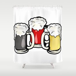 Beer German Flag Germany Present Gift Shower Curtain