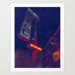 Hollywood Motel - No Vacancy Art Print