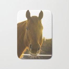 Golden Eyed Horse Bath Mat