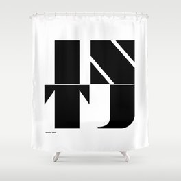 Type Type for INTJ Shower Curtain
