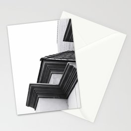 buildings in the city in black and white Stationery Cards