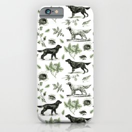 BIRD DOGS & GREEN LEAVES iPhone Case