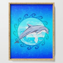 Dolphin Maori Sun Serving Tray