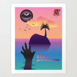 Island Vacation Art Print