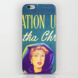 Destination Unknown - Agatha Christie iPhone Skin