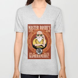 Master Roshi's Gym, Bro, Do You Even Kamehameha Unisex V-Neck