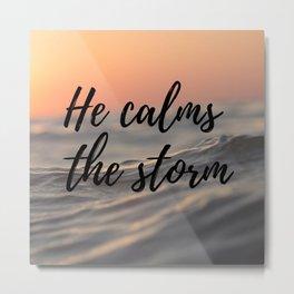 He calms the storm Metal Print