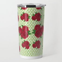 Roses and Polka Dots Travel Mug