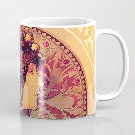 Alphonse Mucha, Art Nouveau Coffee Mug
