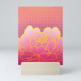 peony flower sayagata Mini Art Print