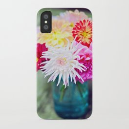 Darling Dahlias II iPhone Case