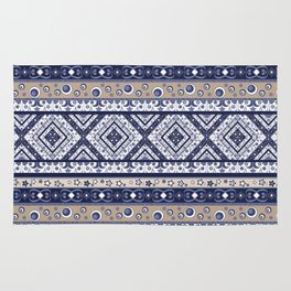 Abstract ornament. Rustic . Stripe. Rug