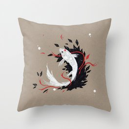 KOI RIBBON Throw Pillow