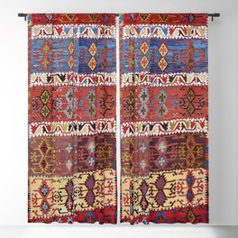 Taspinar Aksaray Antique Turkish Kilim Rug Print Blackout Curtain