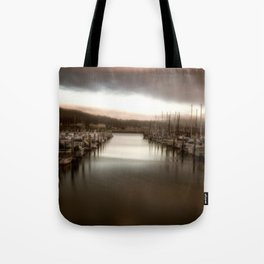 Unbalanced Half Moon Bay California Tote Bag