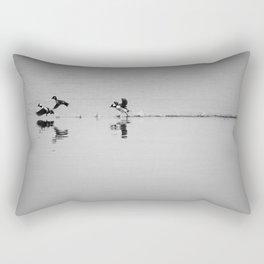 Buffleheads landing Rectangular Pillow