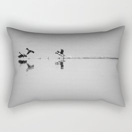 Buffleheads landing Rectangular Pillow