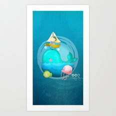 Sailor and Whale Art Print