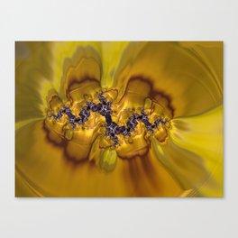 Digital Viola Tricolor  Canvas Print