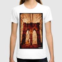 brooklyn bridge T-shirts featuring Brooklyn Bridge by Del Vecchio Art by Aureo Del Vecchio