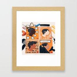 Happy To Be Nappy Framed Art Print
