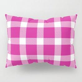 Plaid Hot Pink Pillow Sham