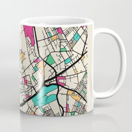 Colorful City Maps: Oldham, England Coffee Mug
