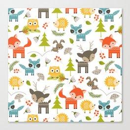 woodland animals Canvas Print
