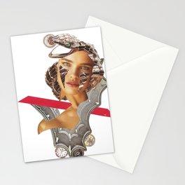 Papecollage with Natalia by Lenka Laskoradova Stationery Cards