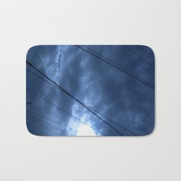 sunset and sailing Bath Mat
