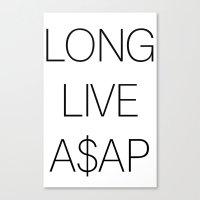 asap rocky Canvas Prints featuring asap rocky by Sara Eshak