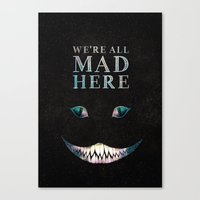 cheshire Canvas Prints featuring Cheshire by EtOfficina
