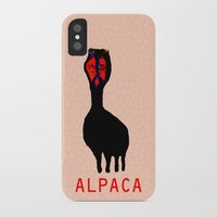 alpaca iPhone & iPod Cases featuring ALPACA by FUNCIT