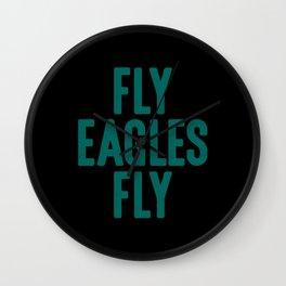 Fly Eagles Fly Philadelphia Football Wall Clock