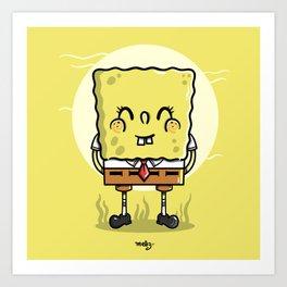 Sponge Bob Art Print