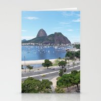 rio de janeiro Stationery Cards featuring Rio de Janeiro Landscape by Fernando Macedo