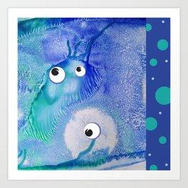 Bubble Monsters Art Print
