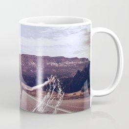 Nude Woman Splashing in the Road Coffee Mug