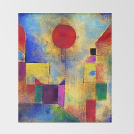 Paul Klee Red Balloon Throw Blanket