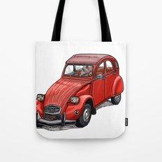 Red 2cv Tote Bag