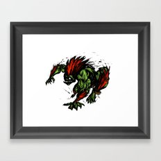 Blanka Rush! - Street Fighter Framed Art Print